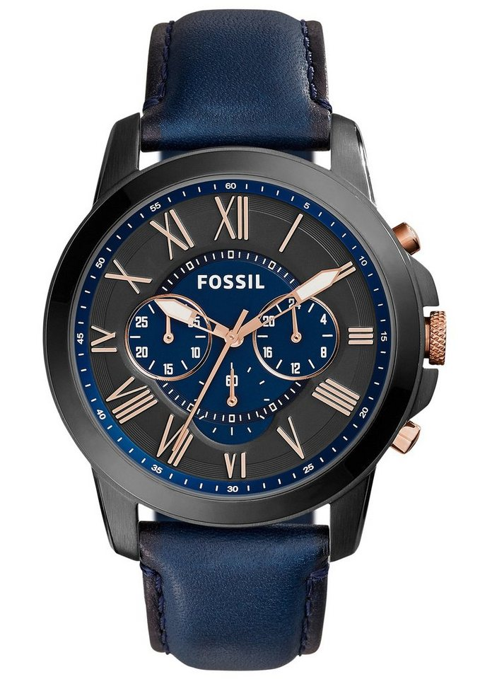 Fossil Chronograph »GRANT, FS5061« in blau