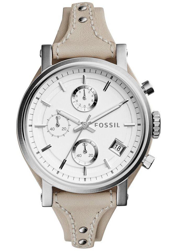 "Fossil, Chronograph, ""ORIGINAL BOYFRIEND, ES3811"" in cremeweiß"