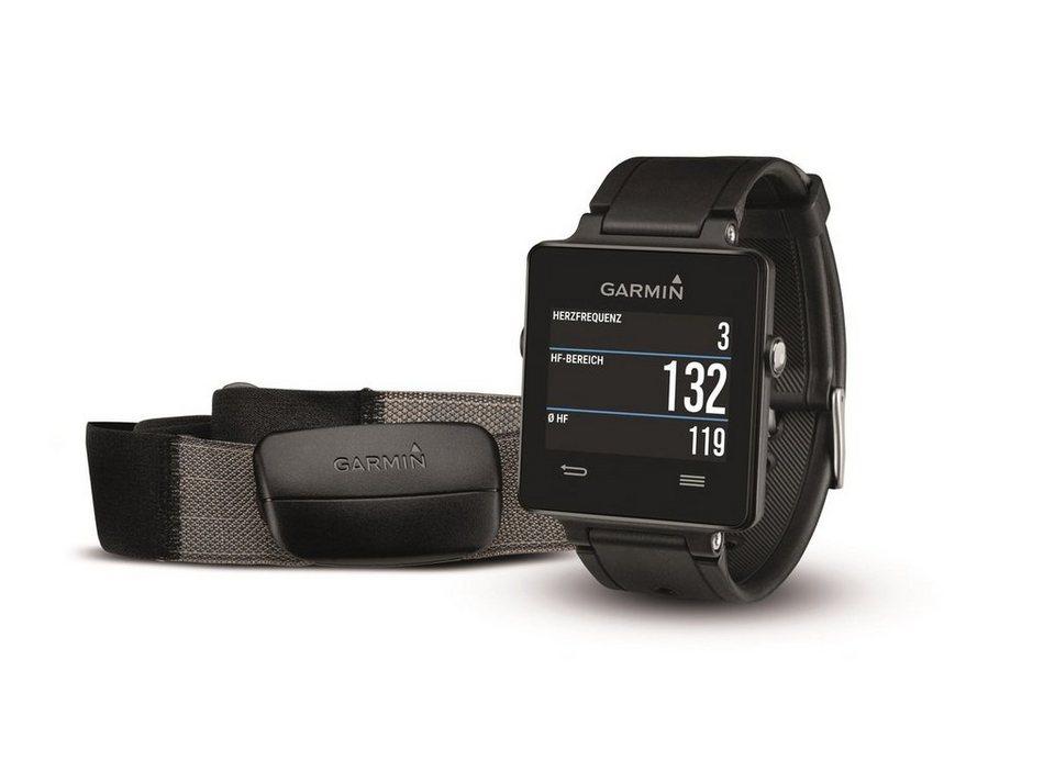Garmin GPS-Smartwatch »vivoactive - HRM Bundle« in Schwarz