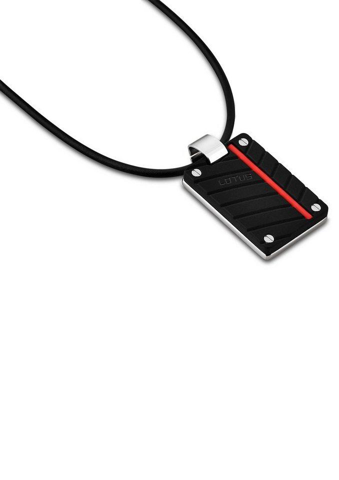 Lotus Style Halsschmuck: Halskette »Marc Marquez, LS1681-1/2« mit PU-Band in silberfarben/schwarz
