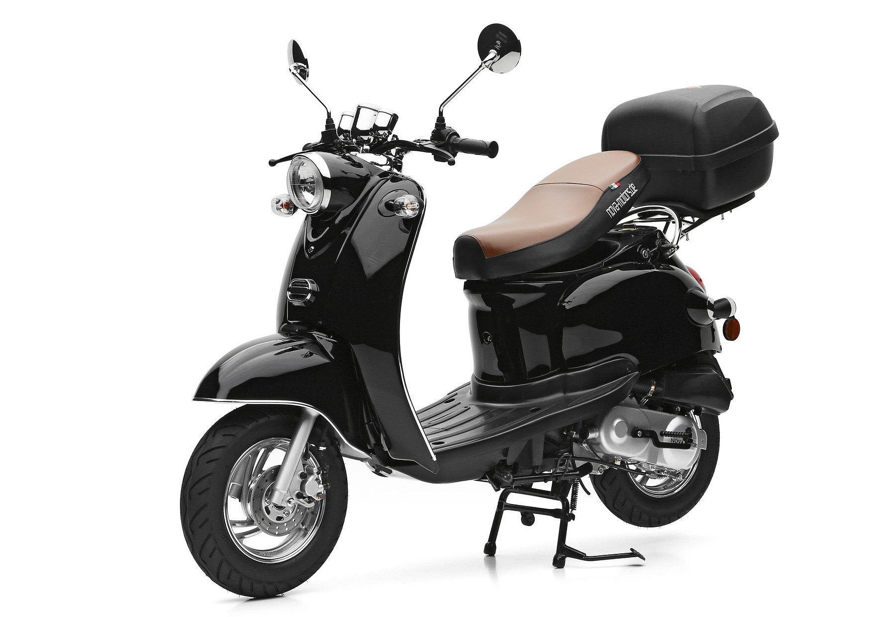 Nova Motors SET: Mofaroller inkl. Topcase, 49-ccm, 25 km/h, »Retro Star«