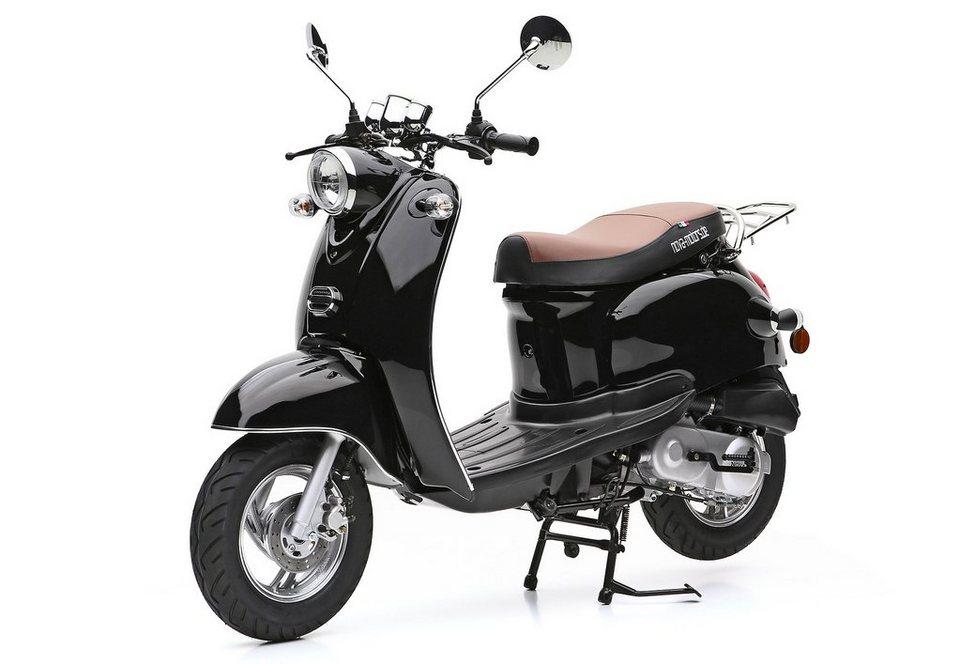 Nova Motors Mofaroller, 49-ccm, 25 km/h, »Retro Star« in schwarz