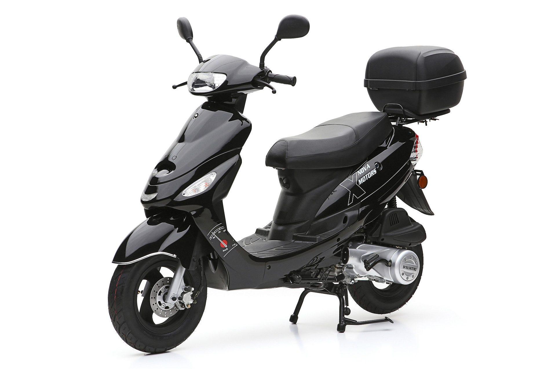 Nova Motors SET: Motorroller inkl. Topcase, Faltgarage, Kettenschloss, 125-ccm, 82 km/h, »City Star«