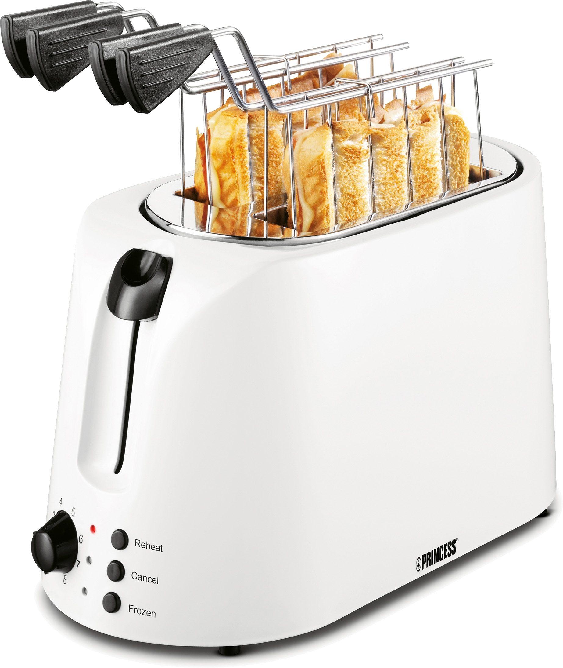 Princess Toaster Croque Monsieur Cool White, für 2 Scheiben, 1000 Watt