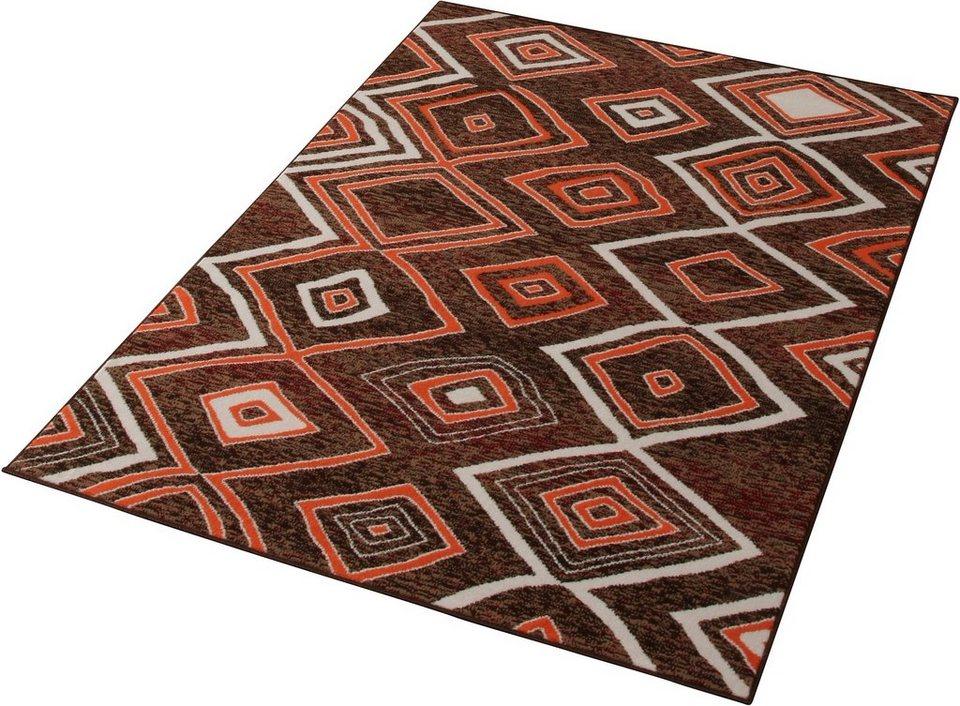 Teppich »Square«, Hanse Home, rechteckig, Höhe 7 mm in braun-orange