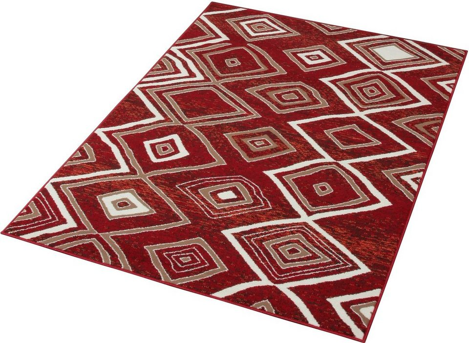 Teppich »Square«, Hanse Home, rechteckig, Höhe 7 mm in rot-natur