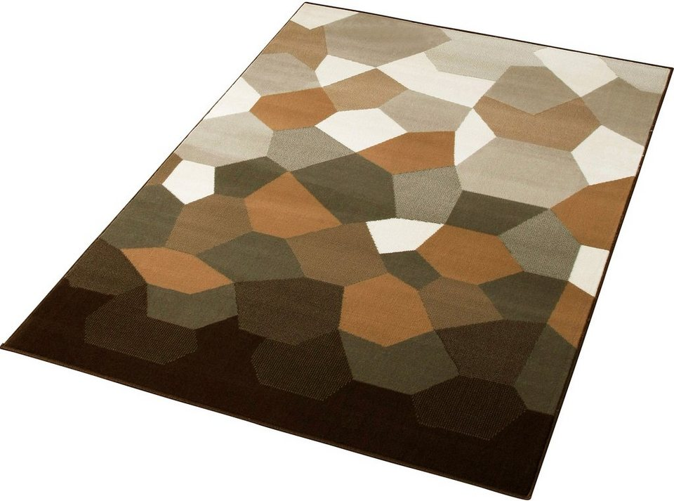 Design-Teppich, Hanse Home, »Mosaic«, gewebt, modern, strapazierfähig in Grau Beige