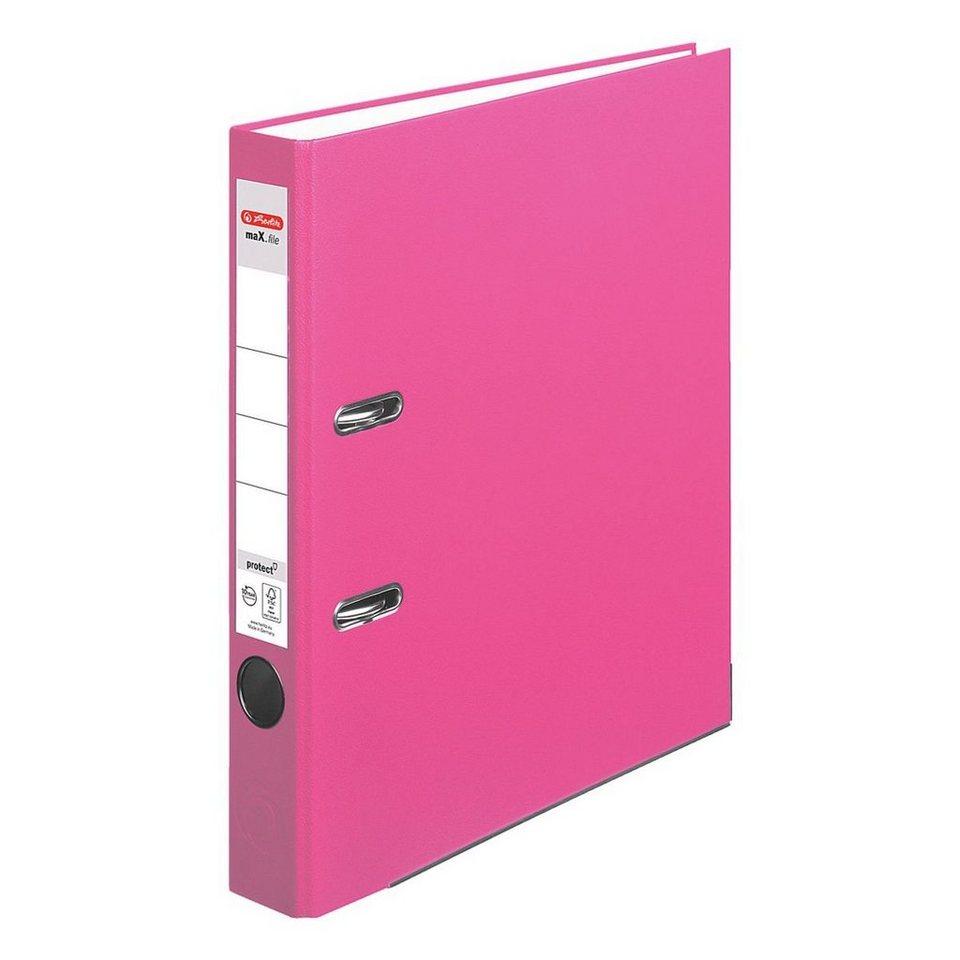 Herlitz Ordner »maX.file protect« in pink