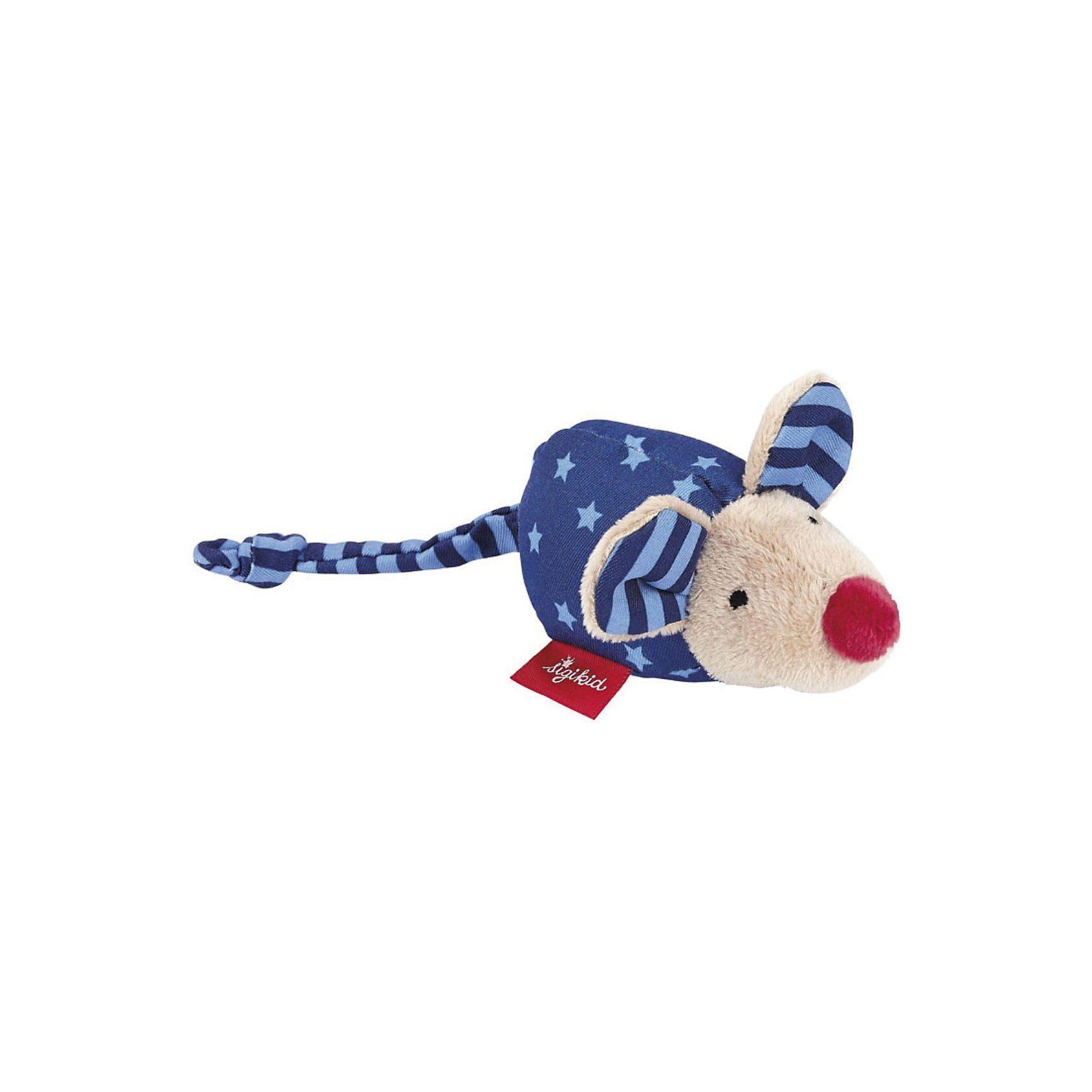 Sigikid Maus mit Rassel, dunkelblau (49137)