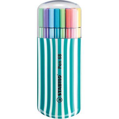 STABILO Filzstifte Pen 68 Box türkis, 20 Farben
