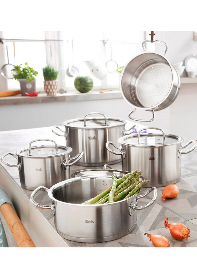fissler topf set edelstahl original profi collection 9tlg online kaufen otto. Black Bedroom Furniture Sets. Home Design Ideas