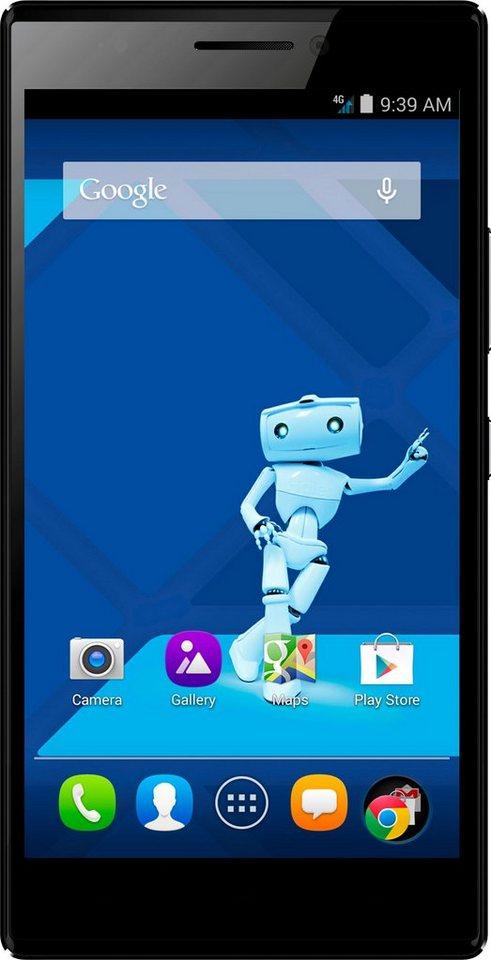 Haier Voyage V5 Smartphone, 14 cm (5,5 Zoll) Display, LTE (4G), Android 5.0, 13,0 Megapixel in dunkelblau