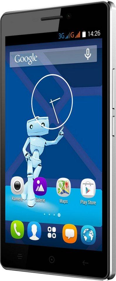 Haier Voyage V3 Smartphone, 13 cm (5 Zoll) Display, Android 4.4, 13,0 Megapixel in schwarz/weiß