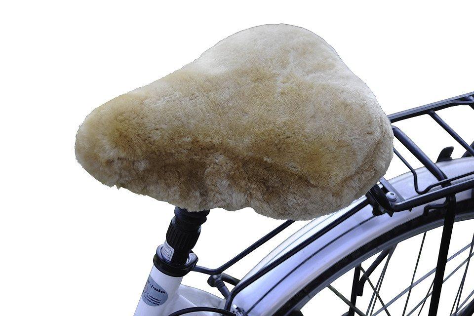 Fahrradsattelbezug »Lammfell Touren« in braun