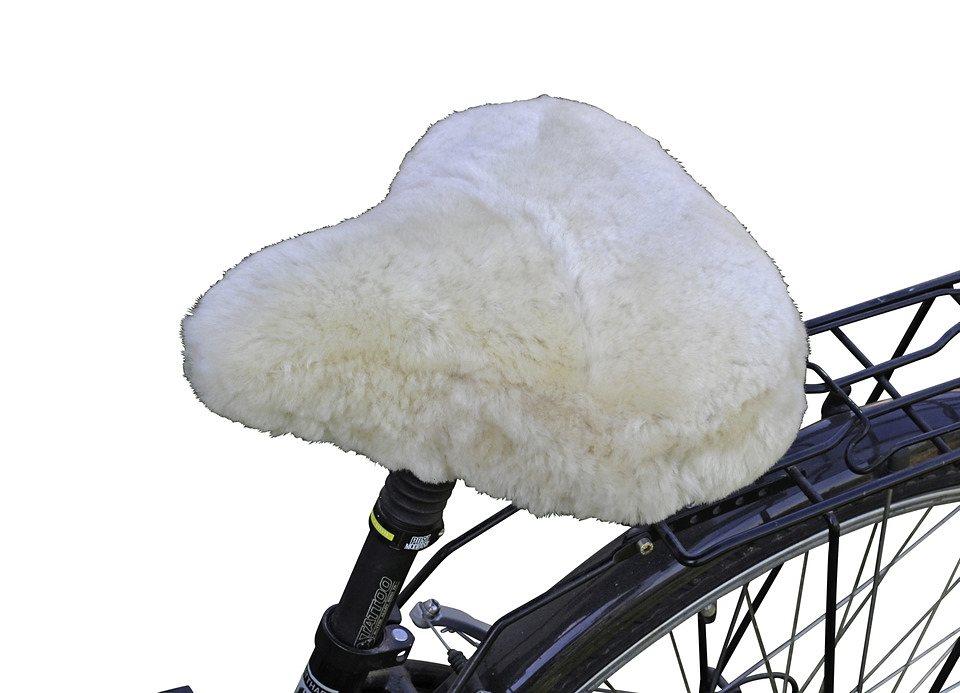 Fahrradsattelbezug »Lammfell Cruiser« in weiß