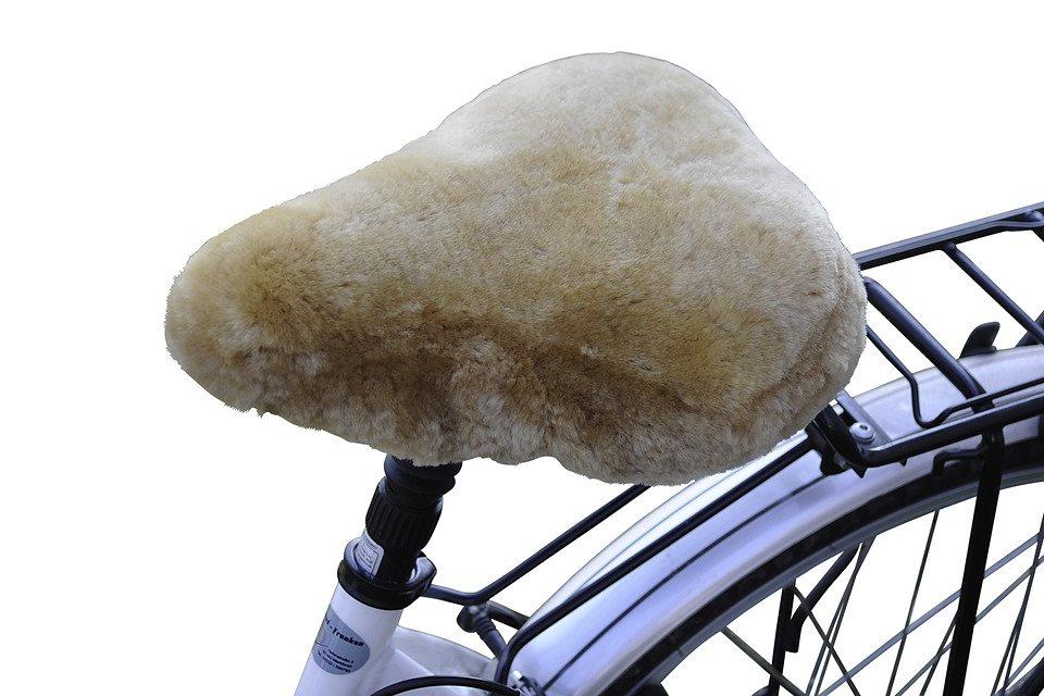 Fahrradsattelbezug »Lammfell Cruiser« in braun