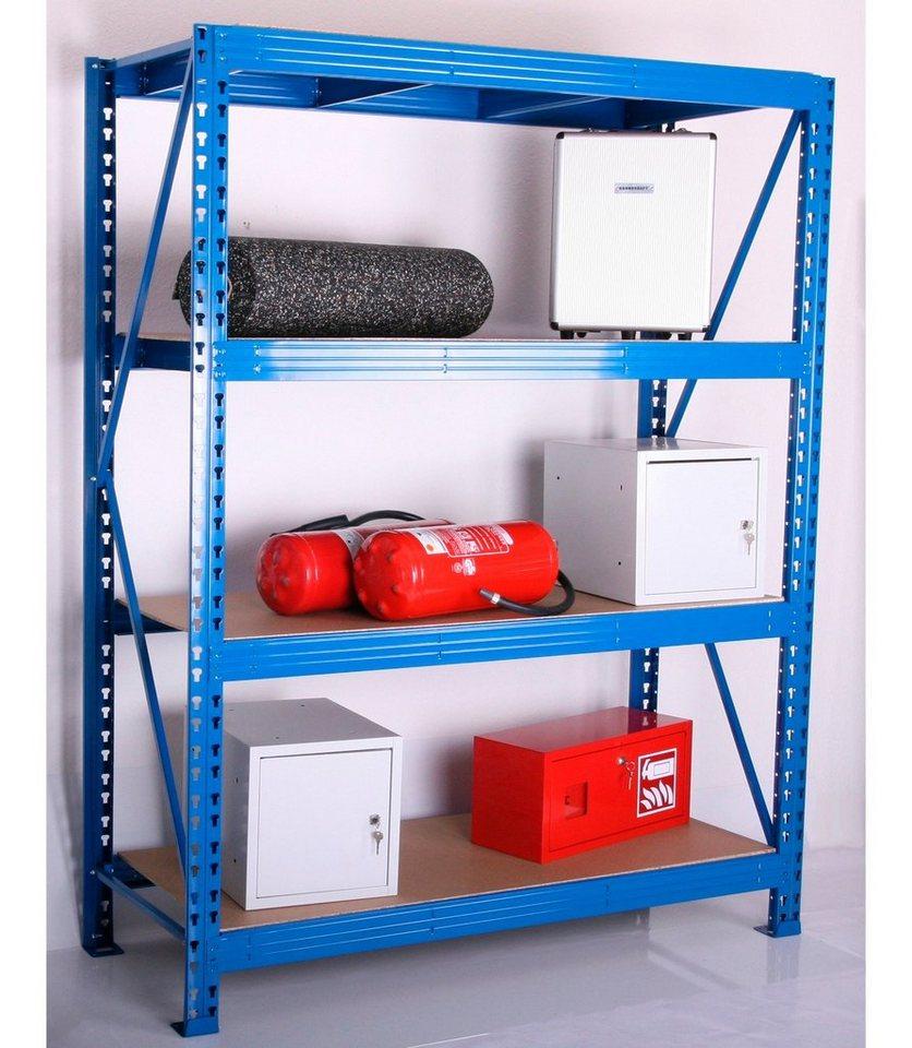 Zusatzböden für Weitspann-Steckregal, Tiefe 80 cm, 2er-Set in natur/blau