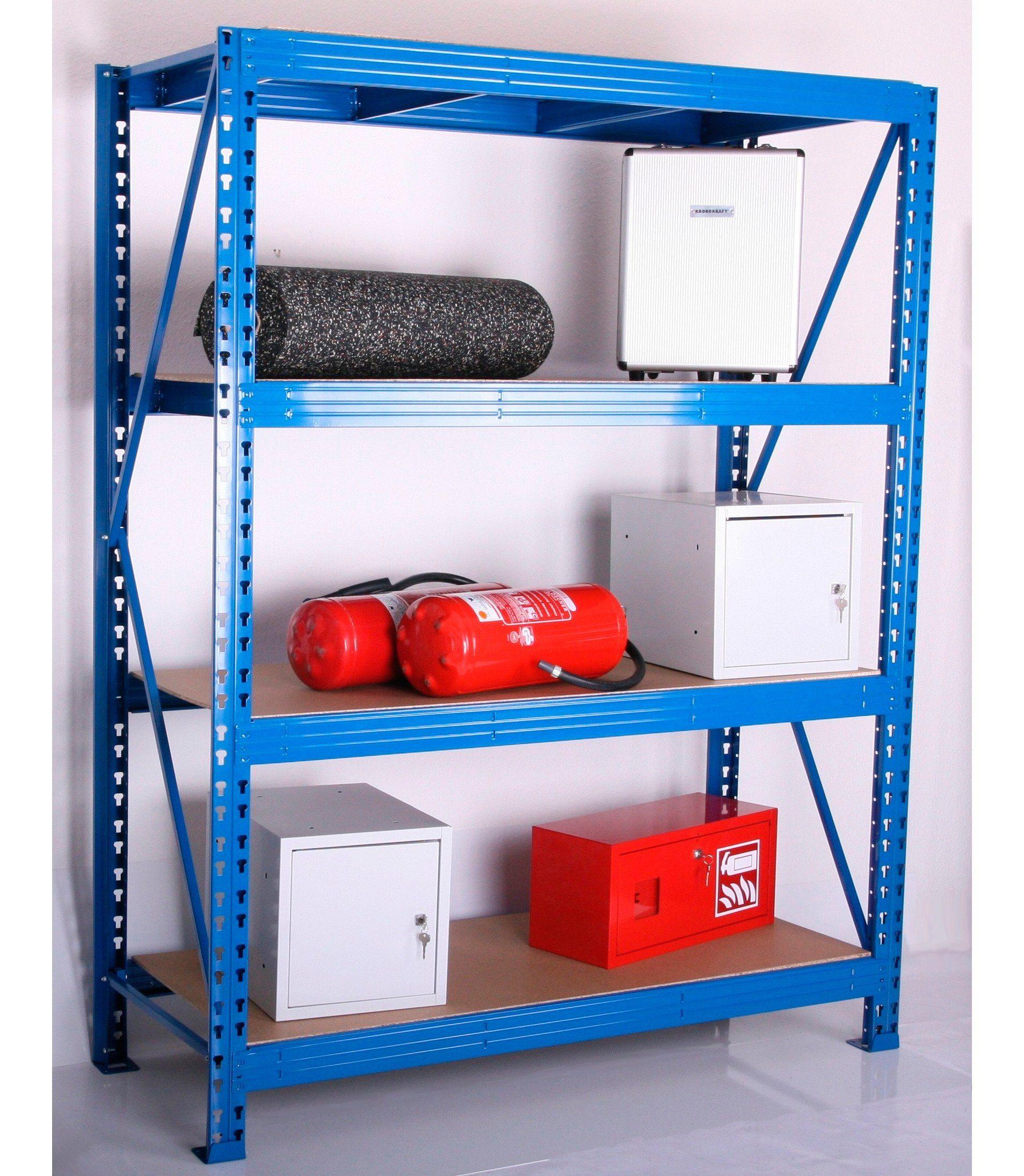 Sz Metall Zusatzböden für Weitspann-Steckregal, Tiefe 80 cm, 2er-Set