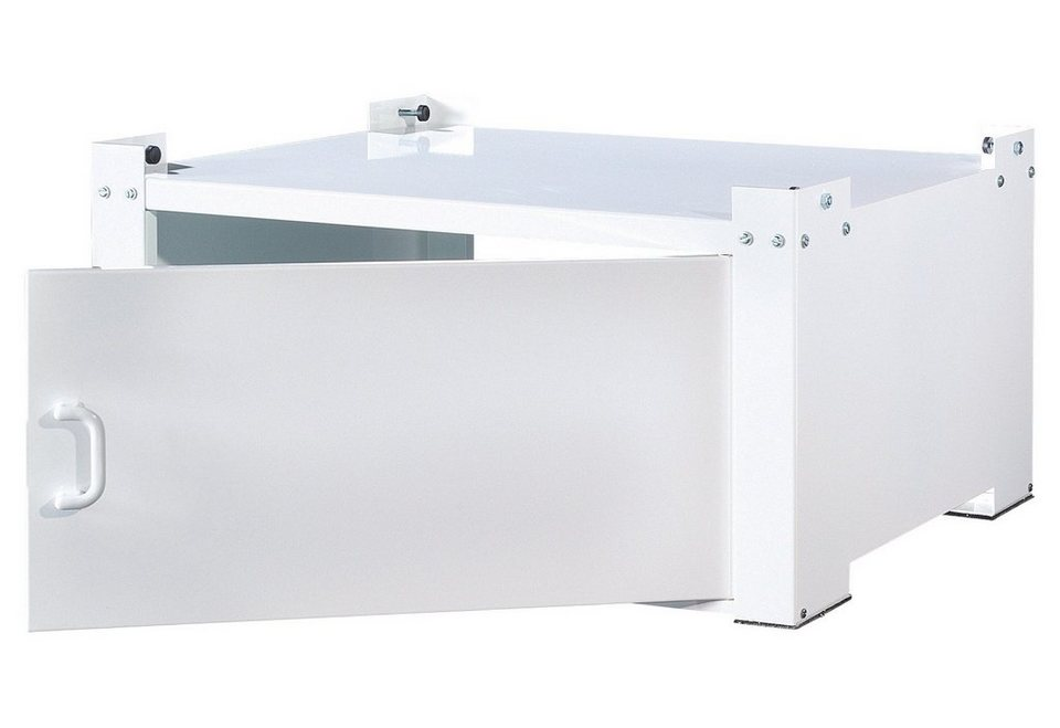 Waschmaschinen-Untergestell, mit Tür in weiß