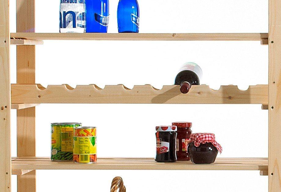 Flaschenleisten, 2 Stück, Holz-Allzweckregal in kiefer