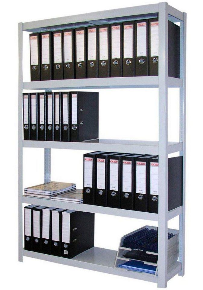 Steckregal »Archiv«, Breite 90 cm in silberfarben