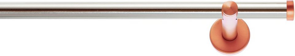 Gardinenstange, Indeko, »Industrie-Look Seattle«, 1-läufig nach Maß ø 20 mm in edelstahloptik, kupferfarben