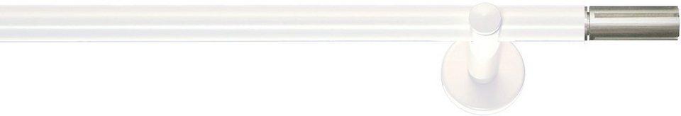 Gardinenstange, Indeko, »Industrie-Look Houston«, 1-läufig nach Maß ø 20 mm in weiss, aluminium