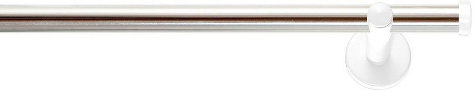 Gardinenstange, Indeko, »Industrie-Look Detroit«, 1-läufig nach Maß ø 20 mm in edelstahloptik, weiss