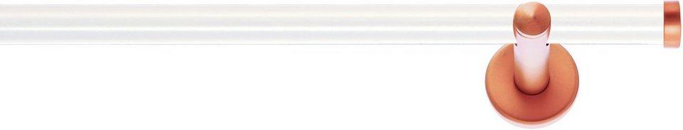 Gardinenstange, Indeko, »Industrie-Look Seattle«, 1-läufig nach Maß ø 20 mm in weiss, kupferfarben
