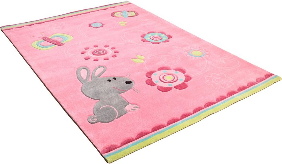 Kinder-Teppich, Arte Espina, »Sam 3«, handgearbeitet in rose
