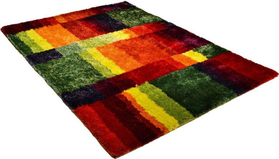 Hochflor-Teppich, Arte Espina, »Funky«, Höhe 30 mm ,handgetuftet in multicolour