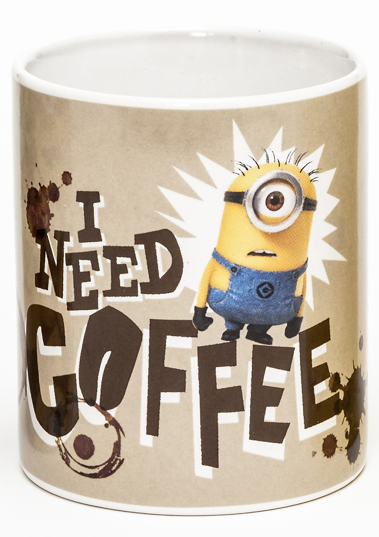JOY TOY Tasse 320 ml, »Minions Keramiktasse, I need Coffee«
