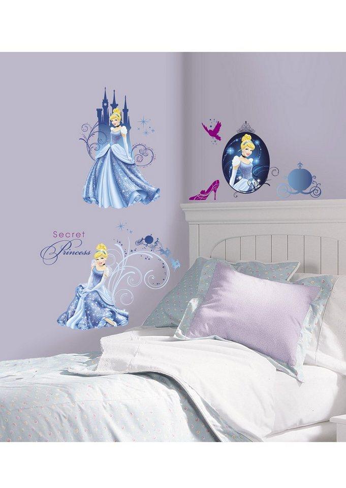 JOY TOY Wandsticker, »Disney's Cinderella - Glamour Wandtattoos«