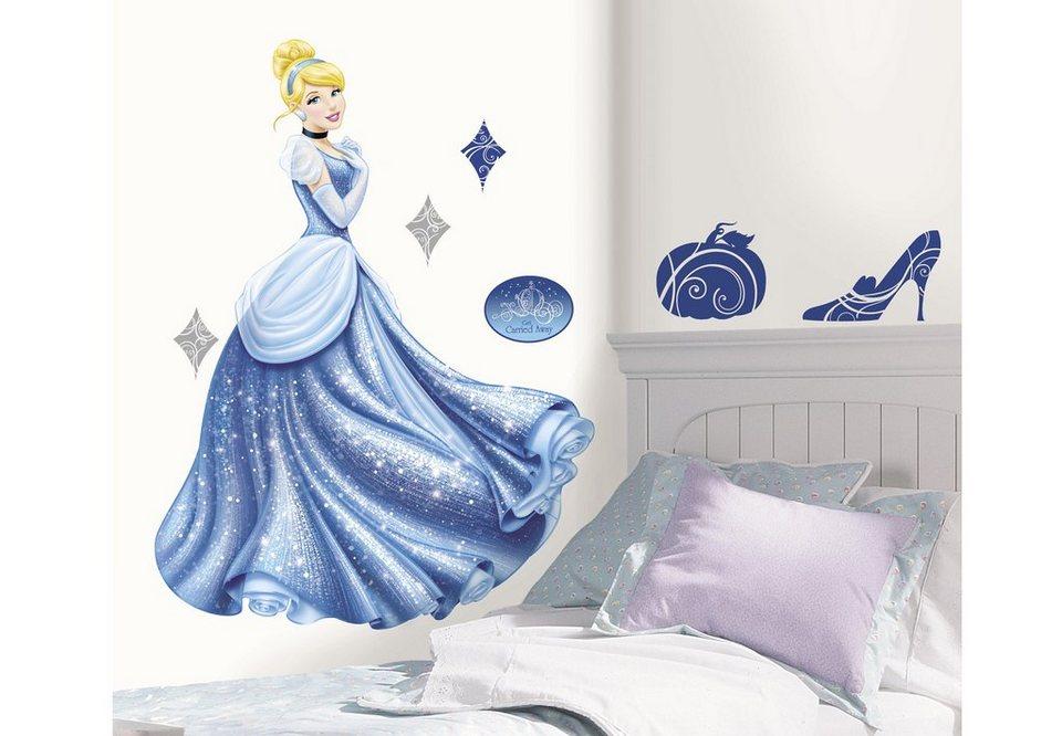 JOY TOY Wandsticker, »Disney's Cinderella - Riesen-Wandtattoo« in blau