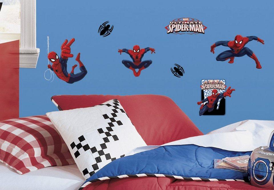 JOY TOY Wandsticker, »Spiderman Wandtattoos« in rot/blau