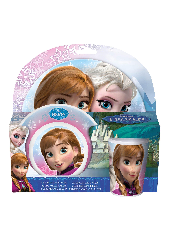 JOY TOY Kindergeschirr, »Disney's Frozen Melamin Geschirr-Set - Die Eiskönigin«