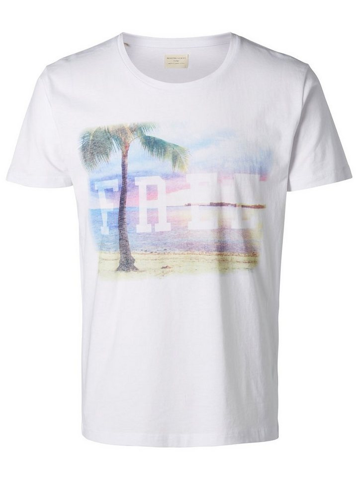 Selected Bedrucktes T-Shirt in White
