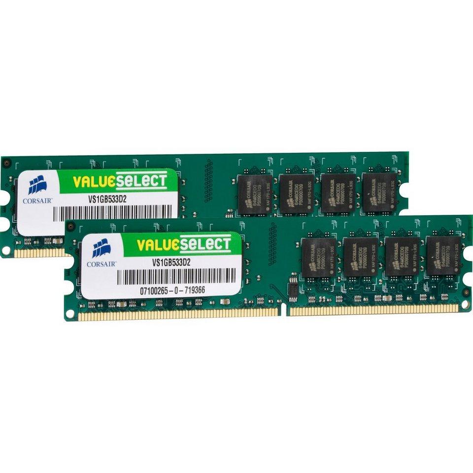 Corsair ValueSelect Arbeitsspeicher »DIMM 2 GB DDR2-533 Kit«