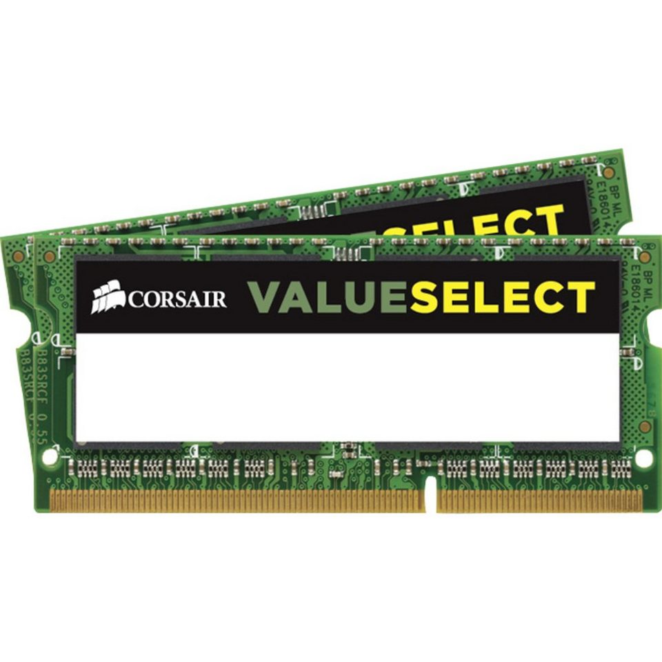 Corsair ValueSelect Arbeitsspeicher »SO-DIMM 8 GB DDR3-1600 Kit«