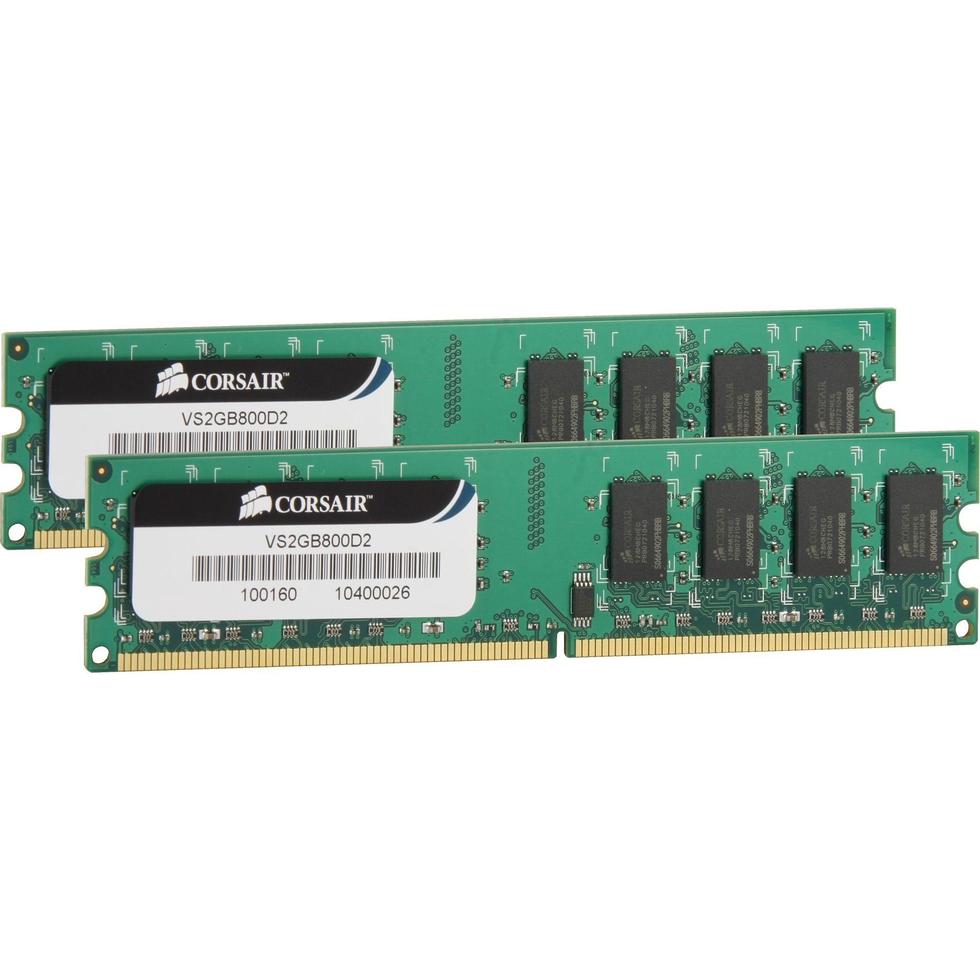 Corsair ValueSelect Arbeitsspeicher »DIMM 4 GB DDR2-800 Kit«