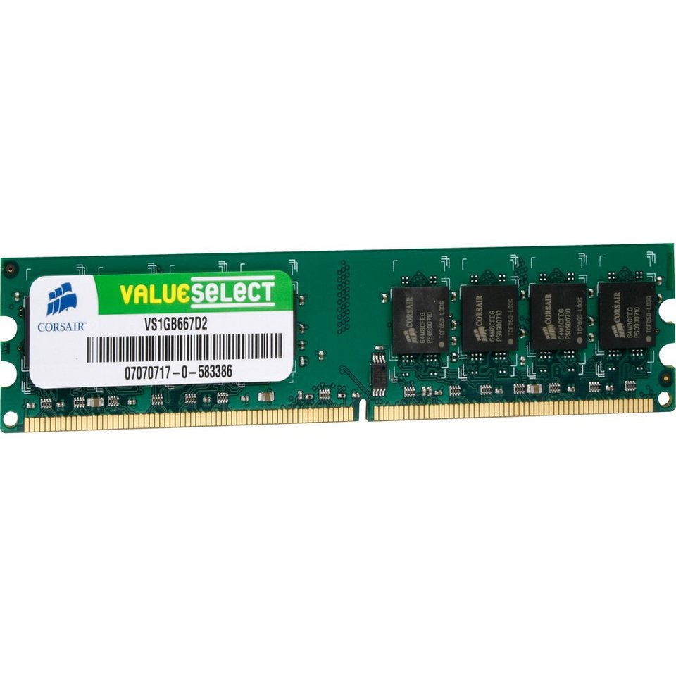 Corsair ValueSelect Arbeitsspeicher »DIMM 1 GB MB DDR2-667«