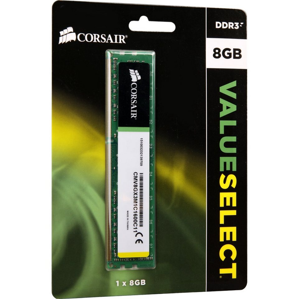 Corsair ValueSelect Arbeitsspeicher »DIMM 8GB DDR3L-1600«