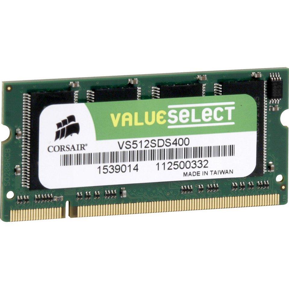 Corsair ValueSelect Arbeitsspeicher »S0-DIMM 512 MB DDR-400«