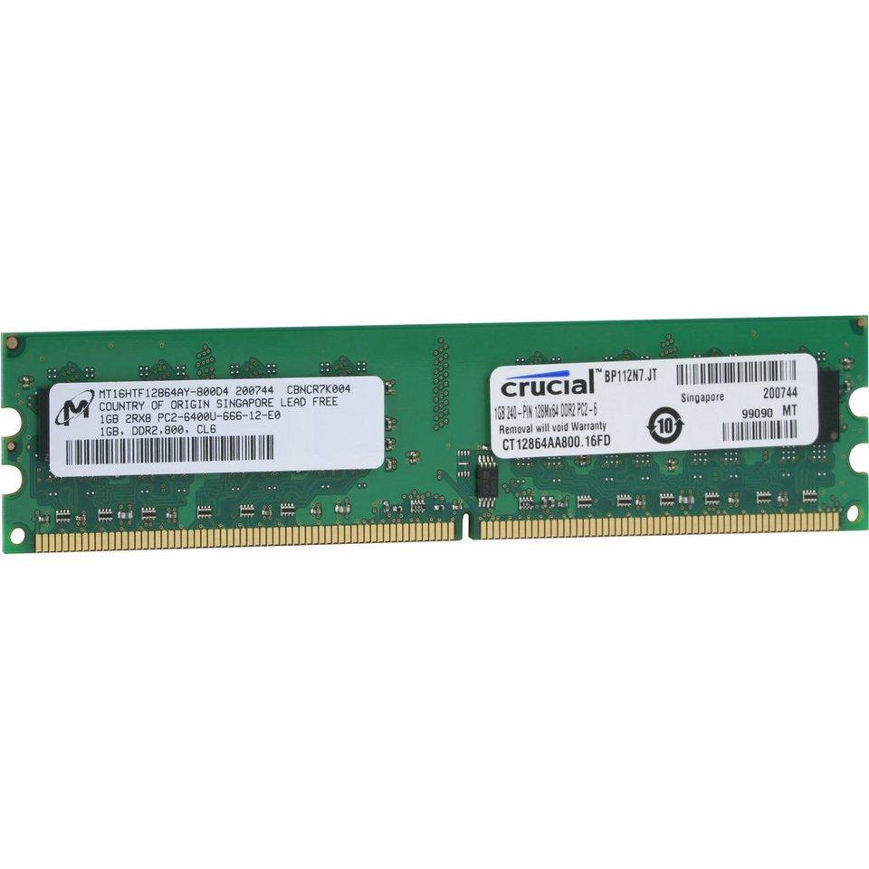 Crucial Arbeitsspeicher »DIMM 1 GB DDR2-800«