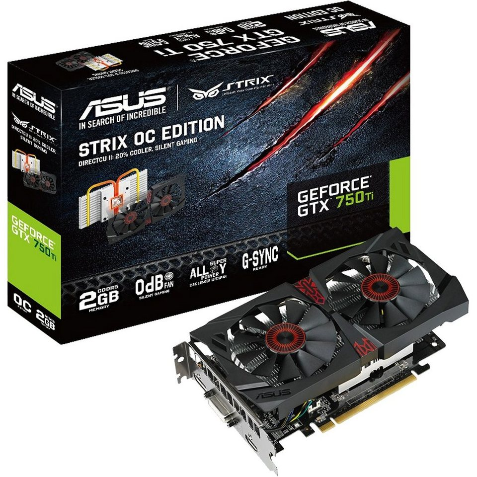 ASUS Grafikkarte »GeForce GTX 750 Ti STRIX OC«