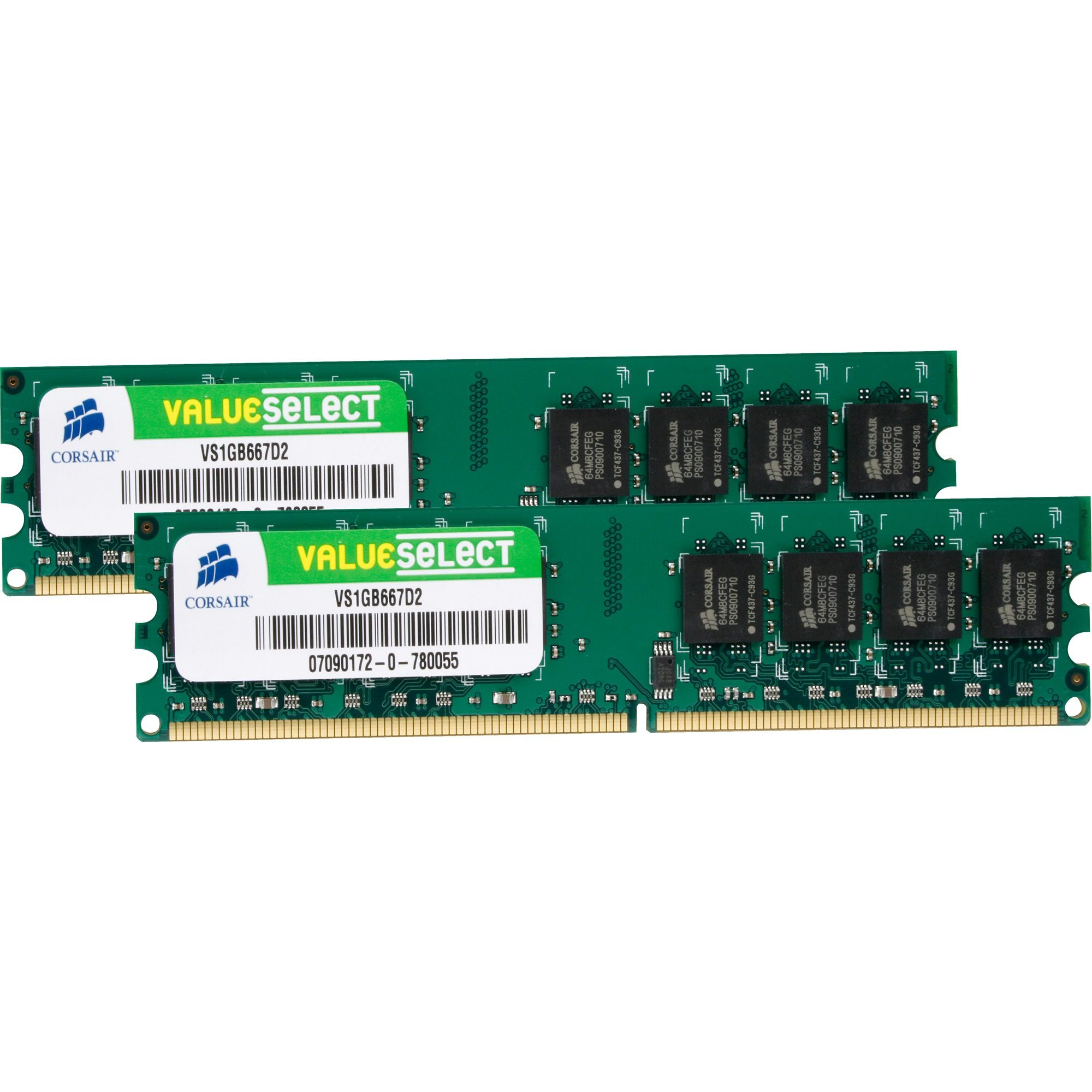 Corsair ValueSelect Arbeitsspeicher »DIMM 2 GB DDR2-667 Kit«