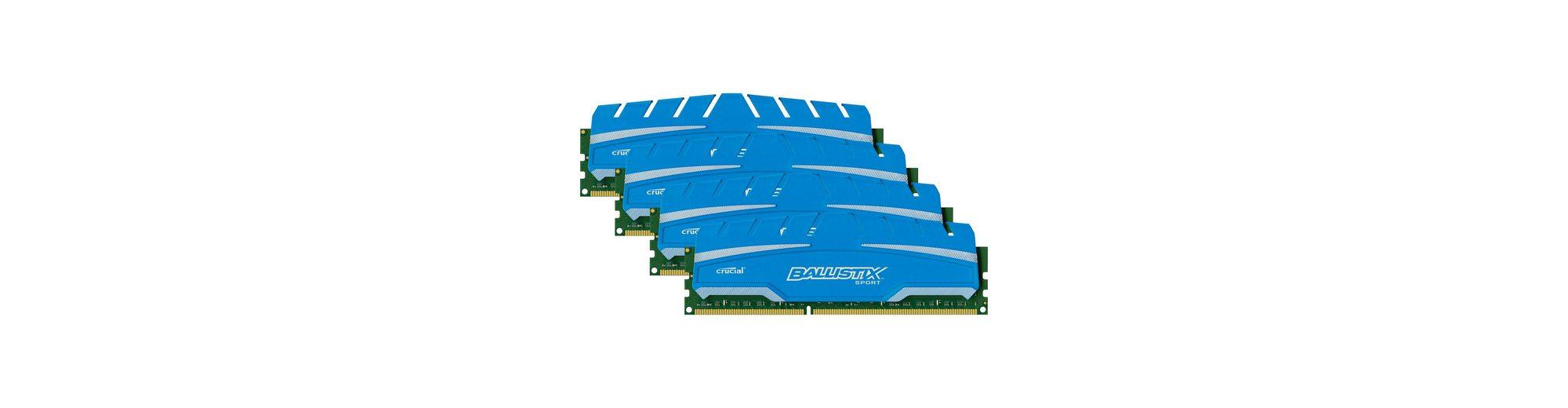 Crucial Arbeitsspeicher »DIMM 32 GB DDR3-1866 Kit«