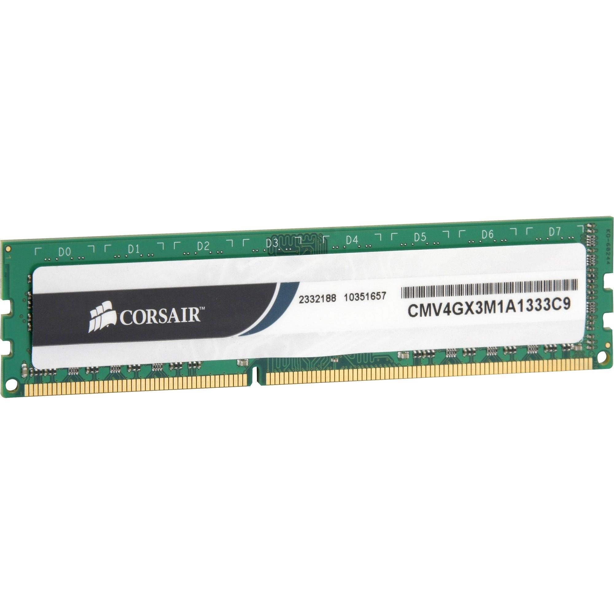 Corsair ValueSelect Arbeitsspeicher »DIMM 4 GB DDR3-1333«