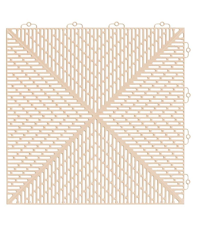 Bodenplatten-Set: »Kunststofffliese Unique Sand« in natur