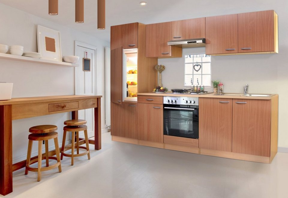 Küchenleerblock »Basic«, Breite 270 cm in buchefarben